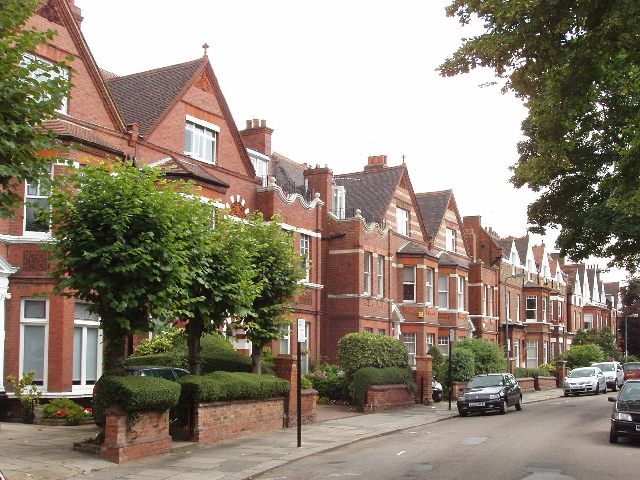 Houses in Lancaster Grove, Swiss Cottage