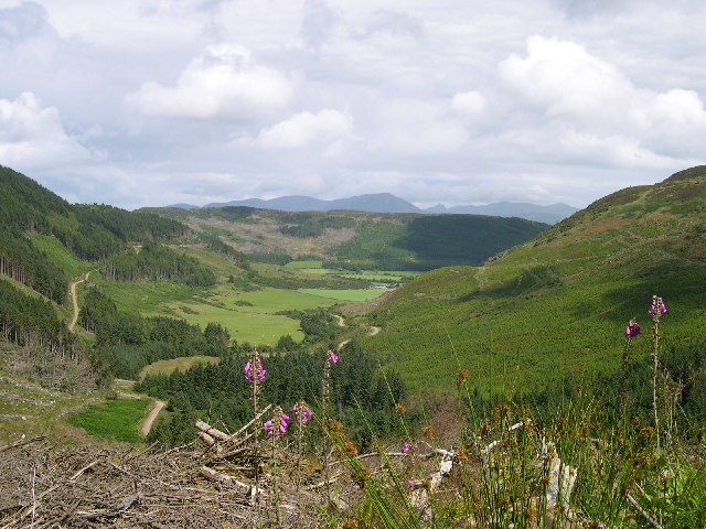 Rhonadale Glen looking East towards Arran