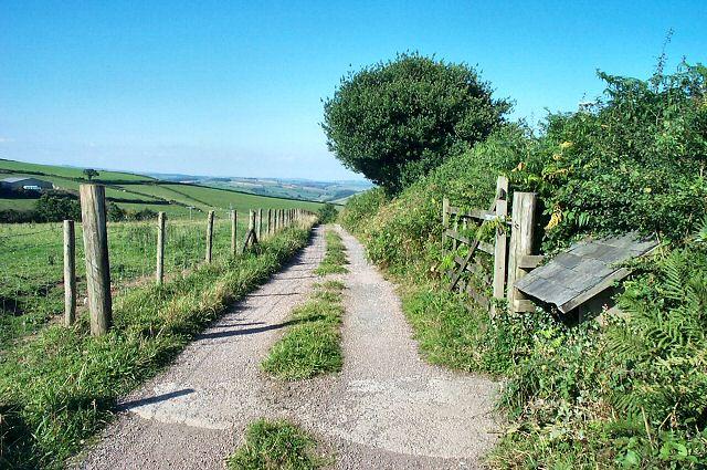 Farm entrance - near Rattery