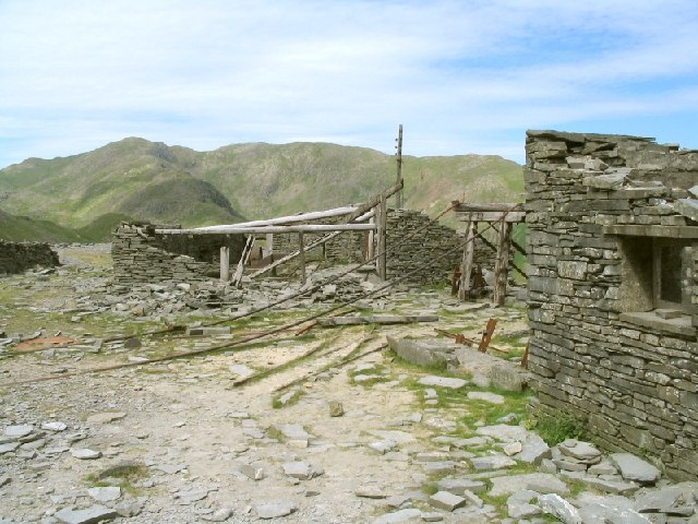 Abandoned Quarry Works under the Old Man of Coniston