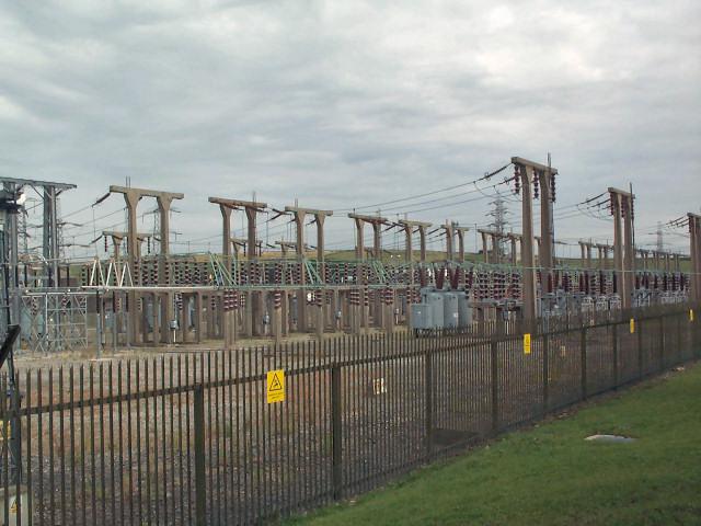 Bradford West National Grid substation