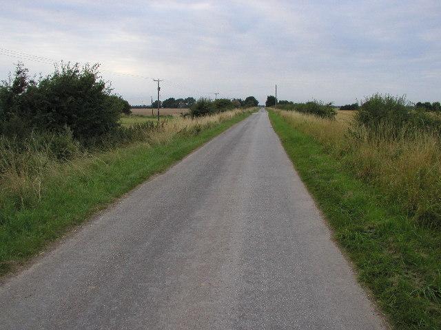 Long, straight, flat road