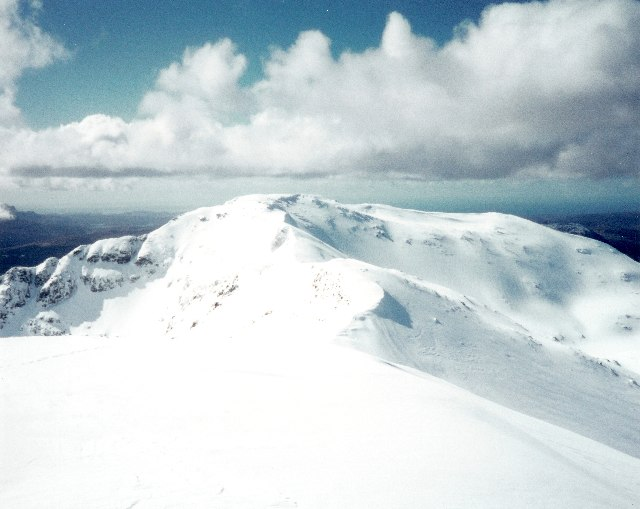 View from the summit of Ben More Assynt