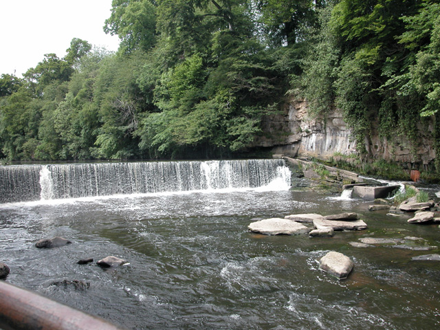 River Almond weir