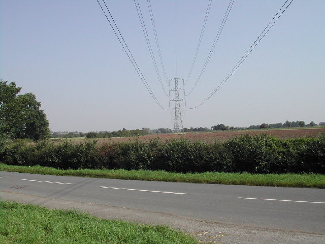 Pylons from the Caythorpe Road