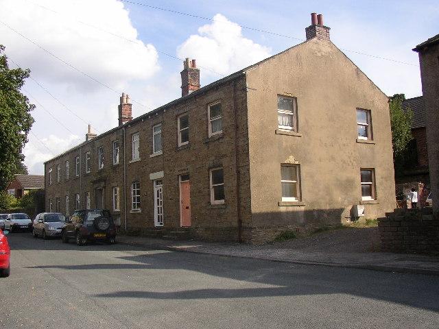 Houses in Bilham Lane, Clayton West