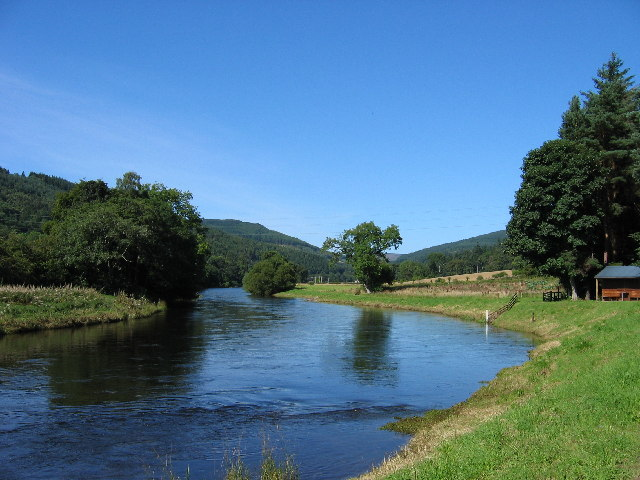 River Tweed downstream from Yair