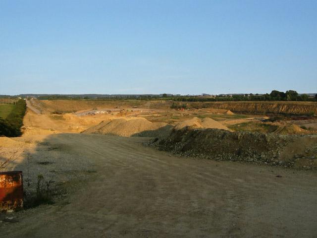 Landfill site in quarry near Buckminster