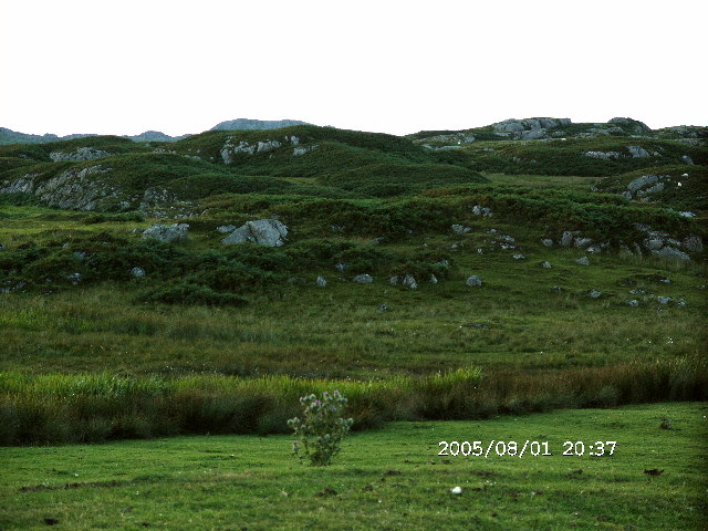 Hummocky terrain south of Fionnphort, Ross of Mull