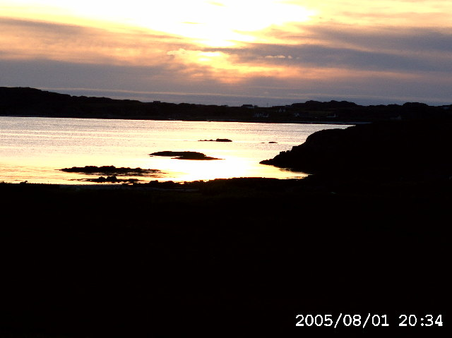Sunset over the Sound of Iona from Ross of Mull (NM2922)