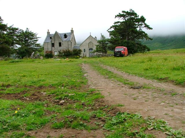Derelict Kirk, Manse and Van