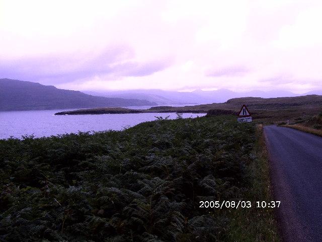 The shore of Loch Scridain, Ross of Mull