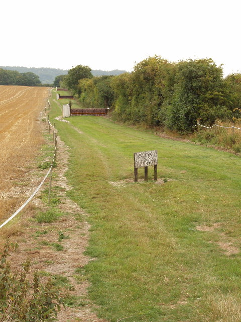 Horse jumps, on dismantled railway, south of Chinnor