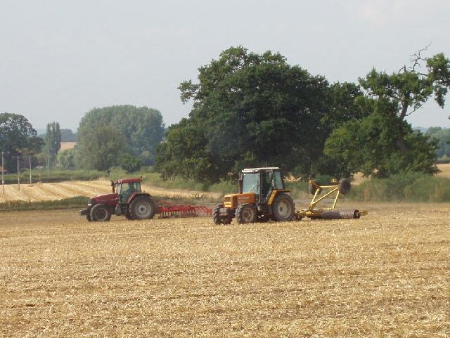 Preparing to plough a corn field, near Kingston Blount