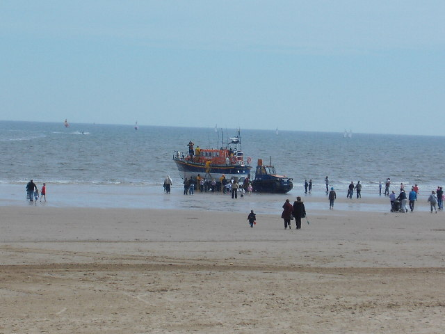 Bridlington Lifeboat being launched