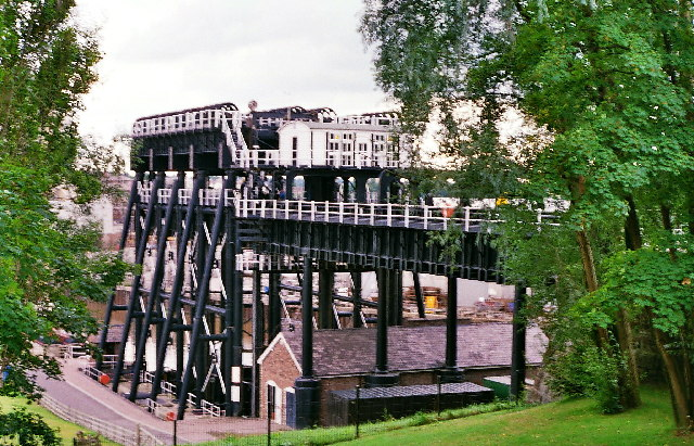 Anderton Boat Lift from the visitor centre