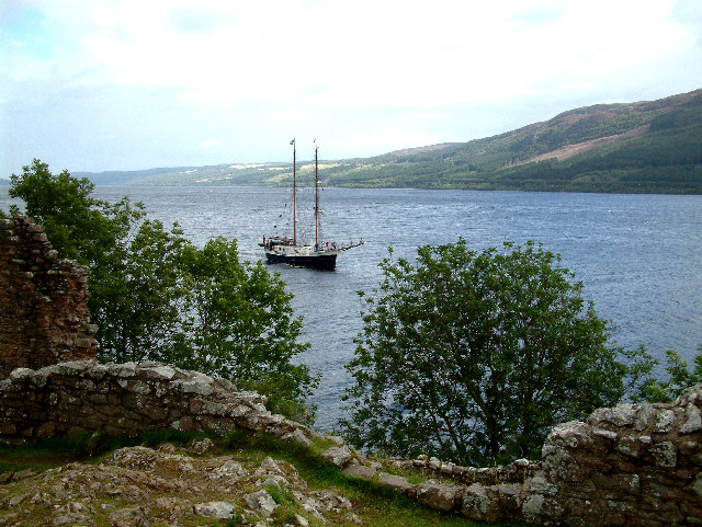 Sail boat on Loch Ness