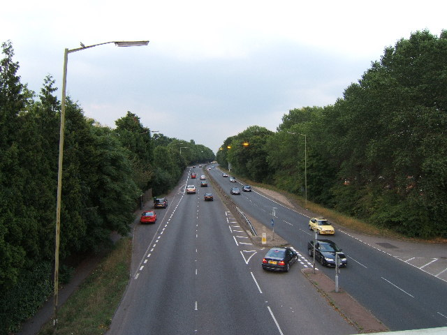 A309 from footbridge near Hinchley Wood