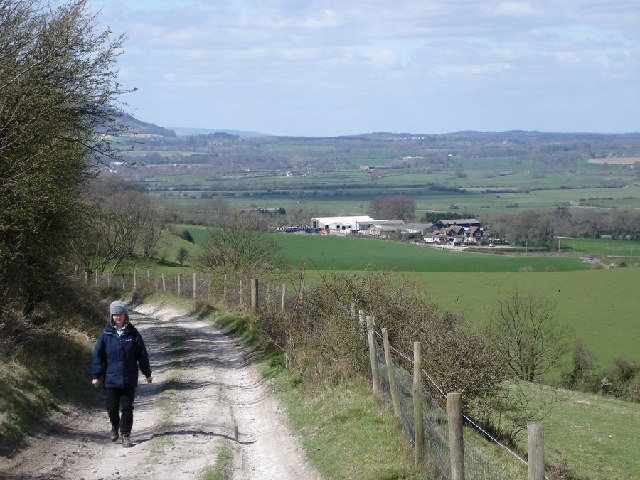 ascending Truleigh Hill - view to the west