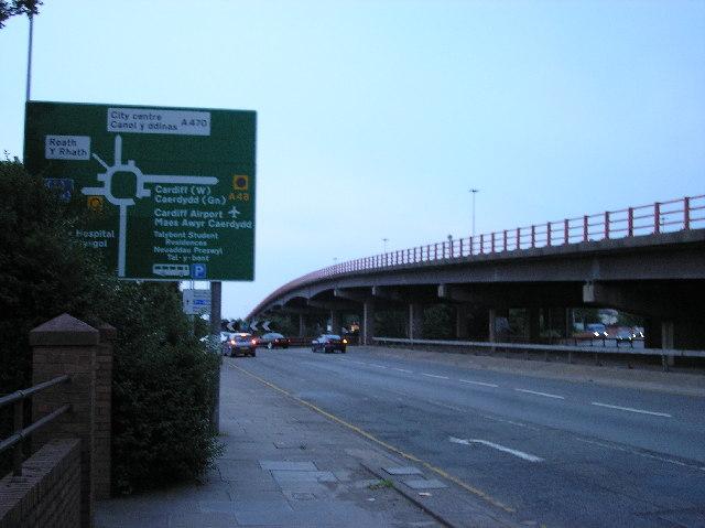 Gabalfa flyover, Cardiff