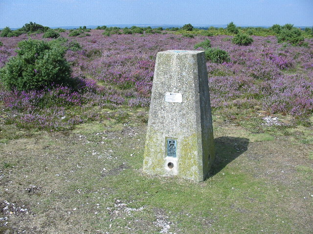Trig Pillar at centre of square