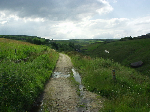 Hudson Mill Road (Bridleway) above Colden Clough