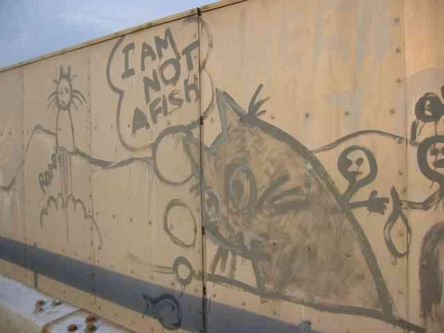 Graffiti on M25 Bridge