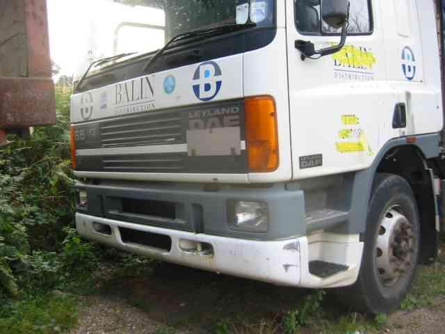 Parked lorry in Noke Lane.