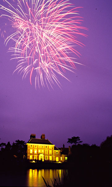Firework display at Forty Hall in December 2004