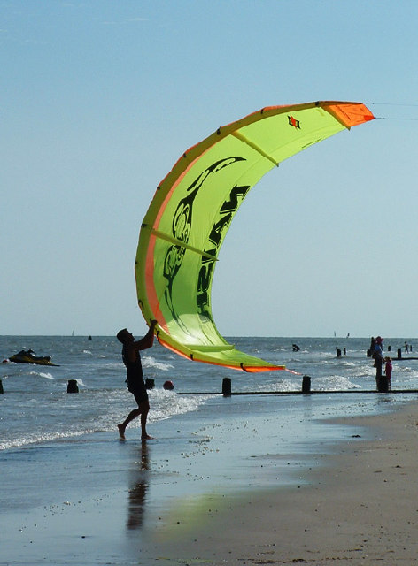 Flying the Kite at Frinton on Sea