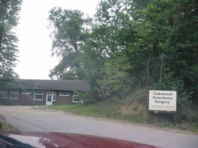 Entrance to the Veterinary clinic in Harper Lane.