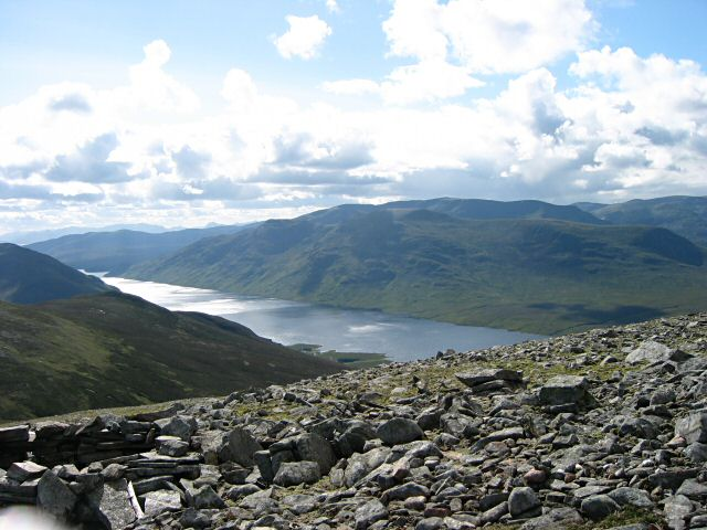 Loch Ericht from the summit of Ben Udlamain