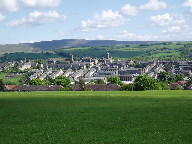 View over Colne, Lancashire, from Holt House
