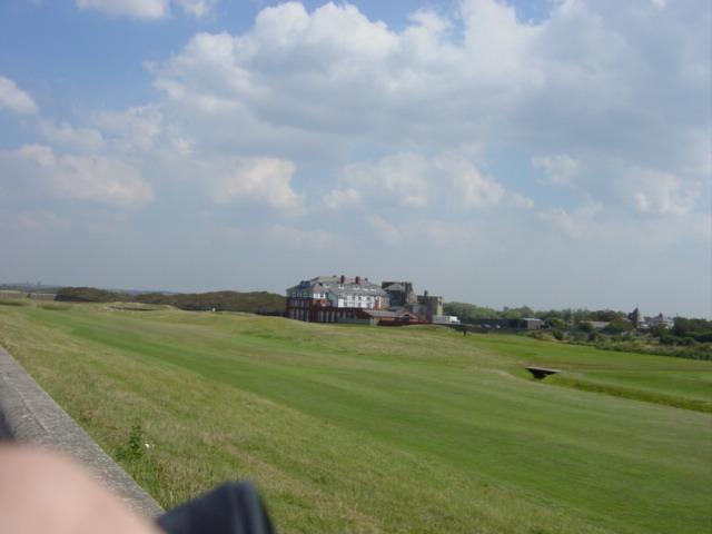 Leasowe Castle across the golf links