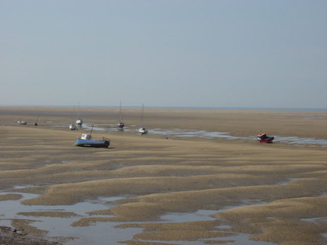 Fishing boats off Dove Point, Meols