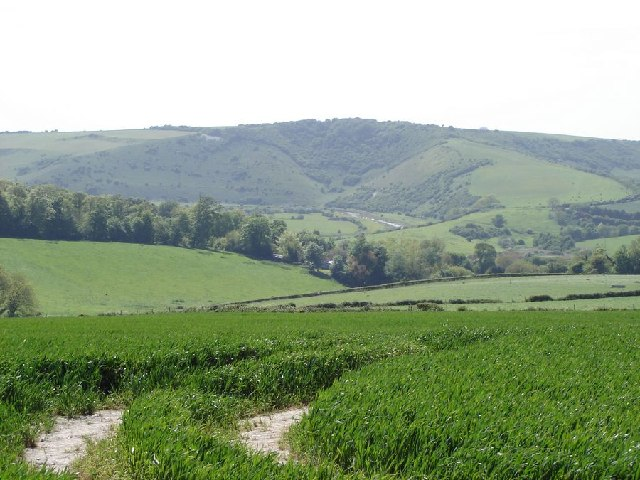 View to the south-west over the Cuckmere Valley - towards High and Over