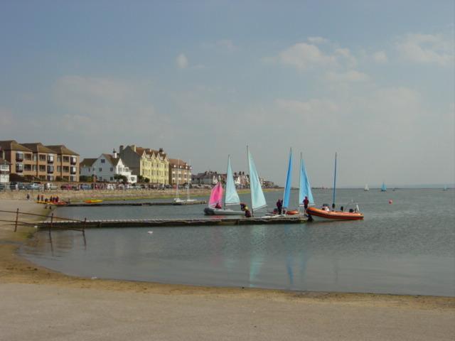 Sailing school, Marine Lake West Kirby