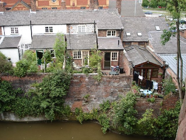 View from the north section of the city walls, Chester
