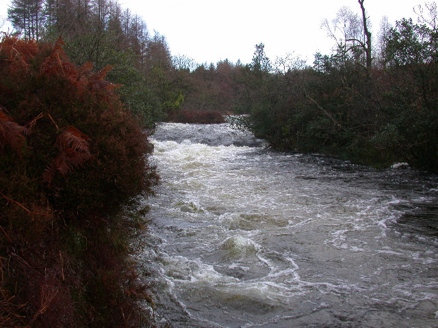 Water of Trool, near confluence with the Water of Minnoch, Glentrool