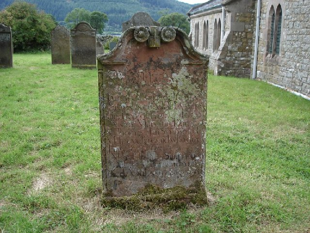 Old gravestone in St Bega's churchyard, near Bassenthwaite Lake