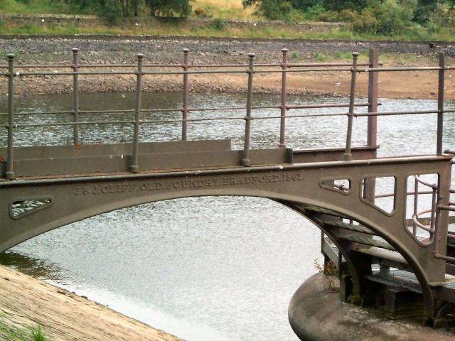 Detail of ironwork at Doe Park Reservoir