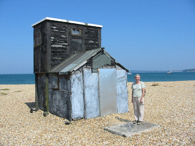 The old cafe on Hurst Spit