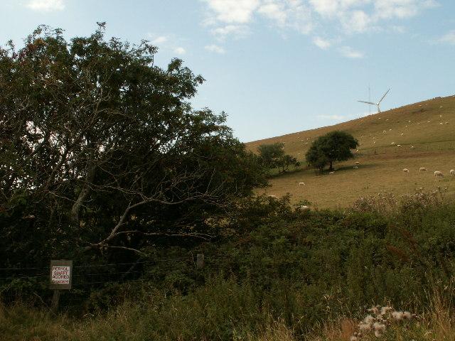 Abandoned mineshaft, Mynydd Gorddu