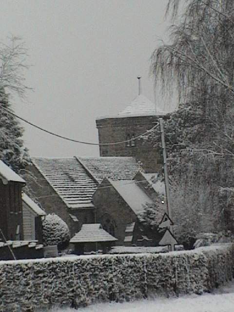 St Peter's church Ardingly in the snow