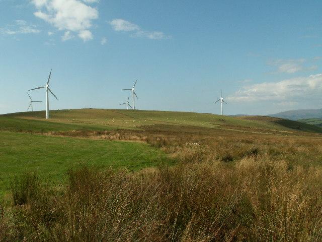 Wind turbines, Mynydd Gorddu