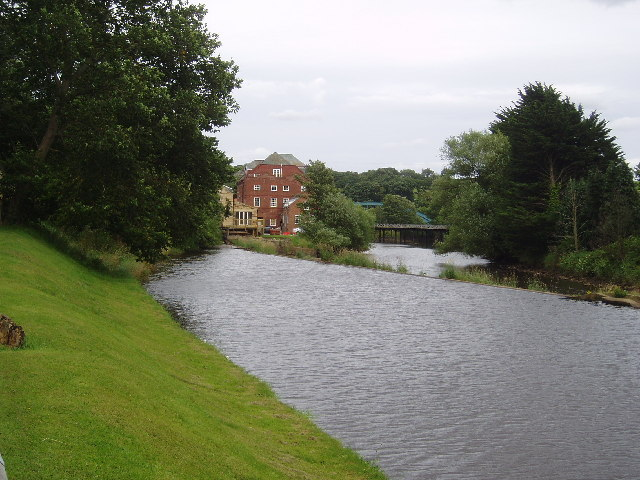 Weir on River Esk, Ruswarp, Yorkshire