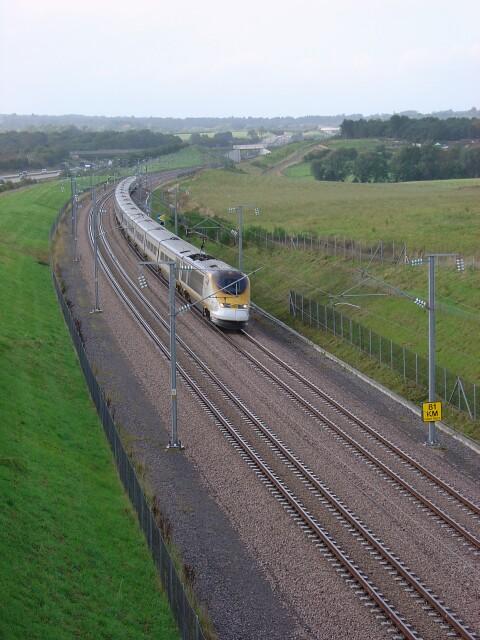 Eurostar train near Ashford