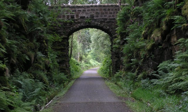 On the trackbed of the former Oban-Callander Railway