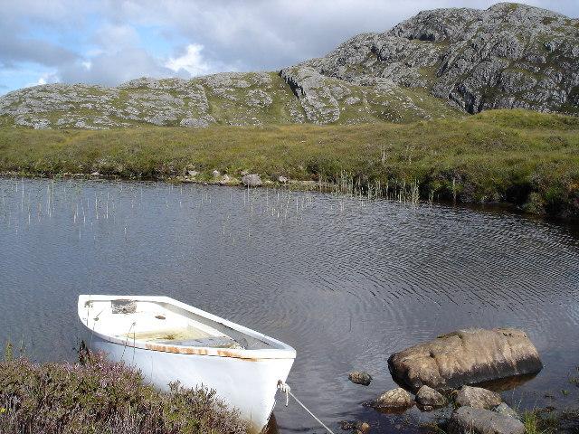 Rowing boat on Loch a' Mhuilinn