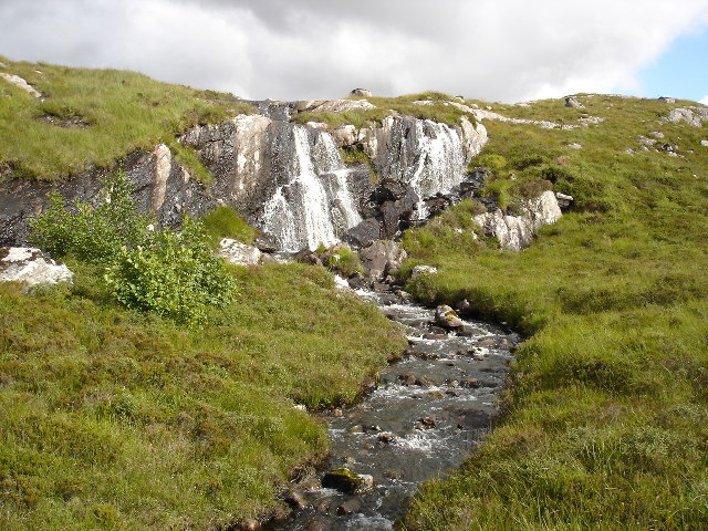 Waterfall on outflow burn from Loch Airigh Mhic Criadh